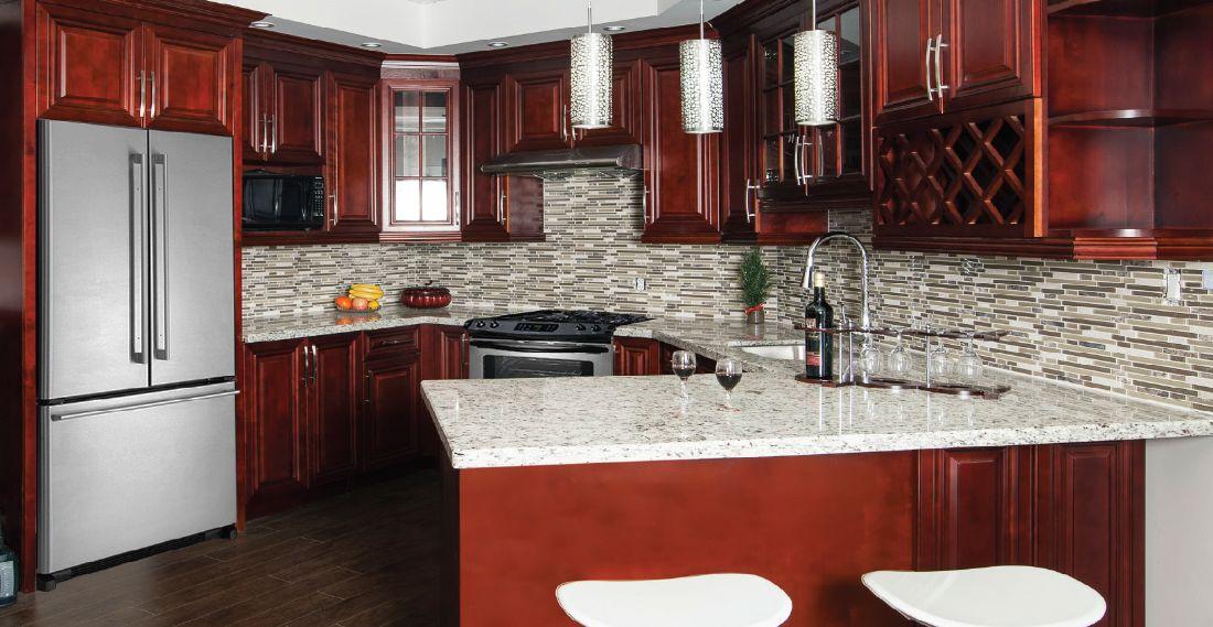 Dark Cherry Kitchen Cabinets Living Edge Kitchen Bath Live Edge Pickering